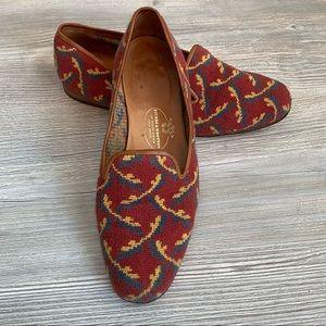 Amazing vintage rare print smoking carpet loafers
